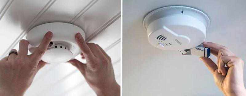 Монтаж пожарных извещателей на подвесной потолок
