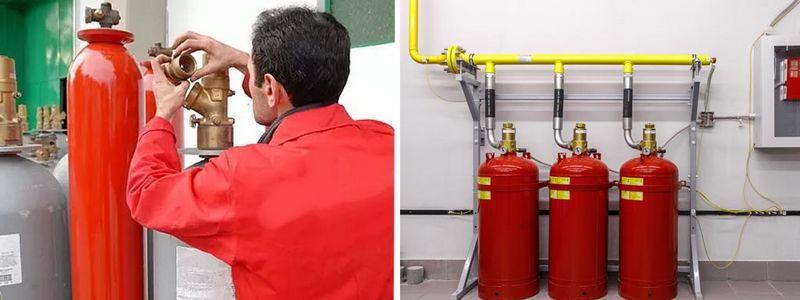 Заказать обслуживание систем газового пожаротушения в Москве