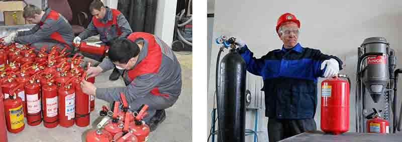 Заказать техническое обслуживание огнетушителей в Москве